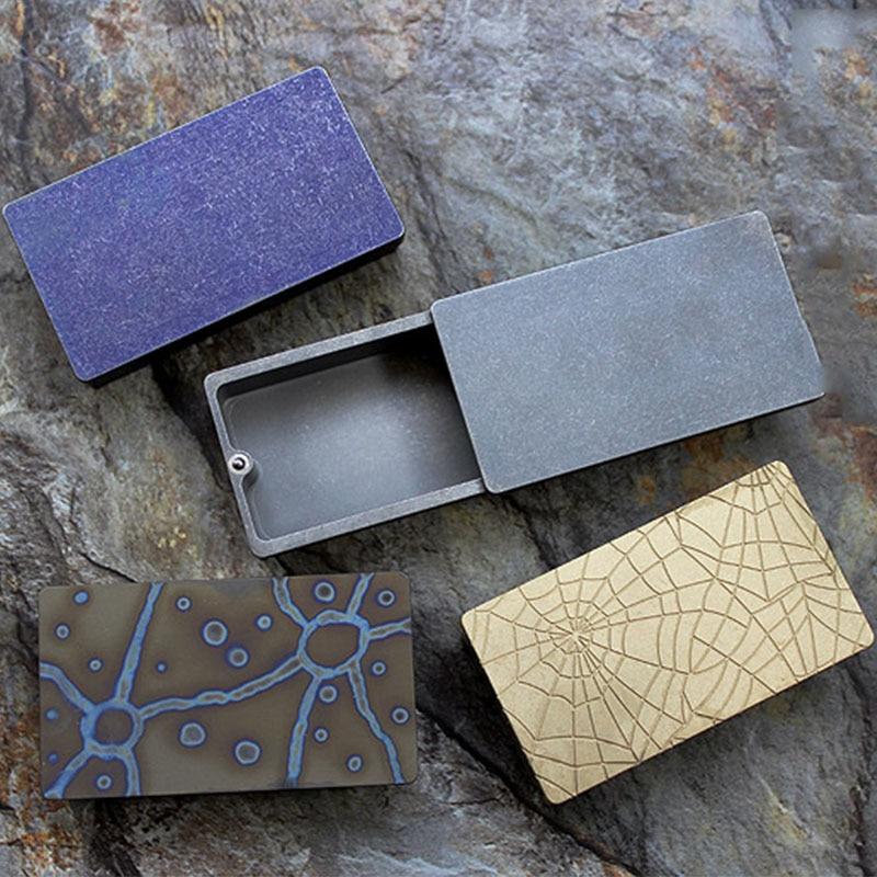 1PC Portable Mini Titanium Alloy Brass Waterproof Storage Metal BoxTank Case Warehouse EDC Outdoor Camping Survival Tools