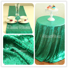 50'' Round HOT Sell Sparkly Green Sequin Tablecloth for Wedding/ Party Decoration
