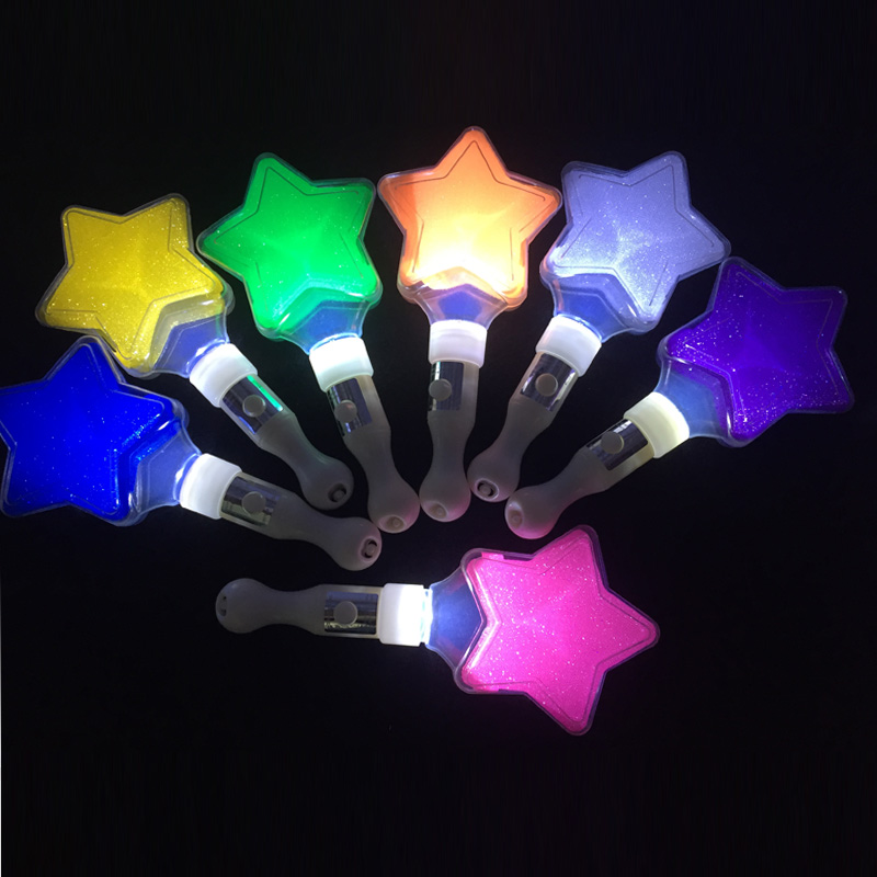 US $32 25 25% OFF|2018 Sale 25pcs/lot Five pointed Star Led Stick Light  Cheering Glow Concert Supplies Props Wedding Club Event Party Decoration  -in