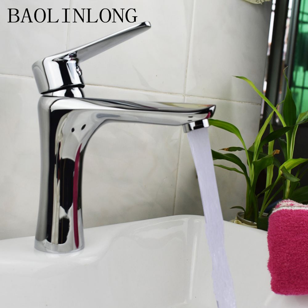 BAOLINLONG Brass Deck Mount Bathroom Faucet Vanity Vessel Basin Sinks Mixer Basin Faucet TapBAOLINLONG Brass Deck Mount Bathroom Faucet Vanity Vessel Basin Sinks Mixer Basin Faucet Tap