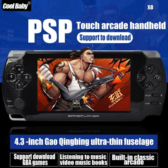 Оптовая продажа новый 8 ГБ 4.3 дюймов жк-экран MP4 игроки игры консоли ручные игры с тв-камеры Vedio игровые приставки ультра-тонких