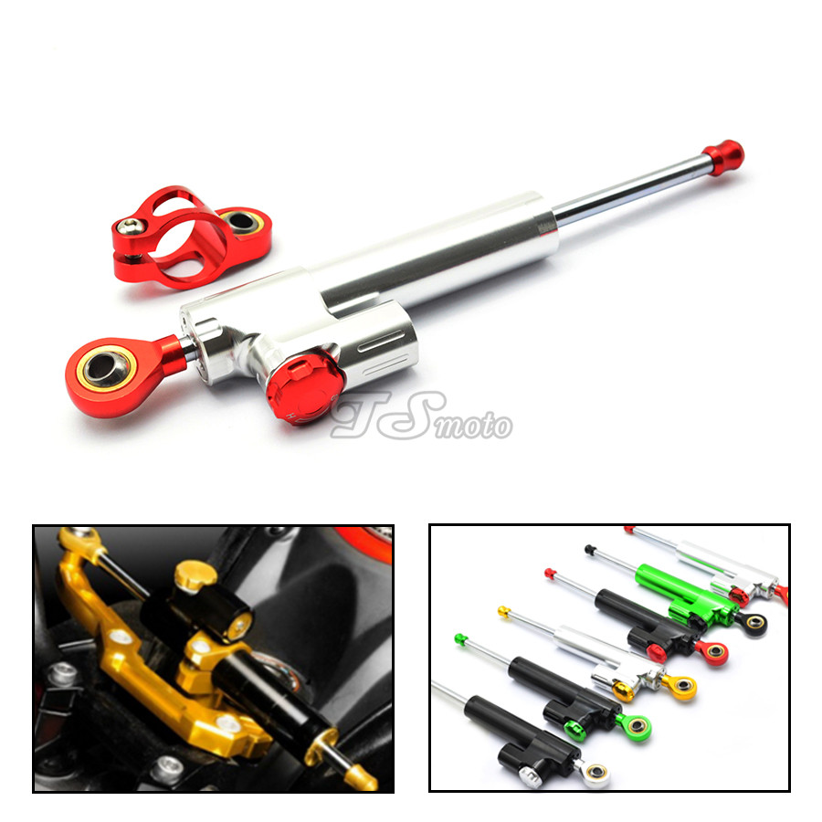 for CNC Damper Steering StabilizerLinear Reversed Safety Control Over for yamaha mt 07 kawasaki z1000 2015 yamaha 250 450 crf ha