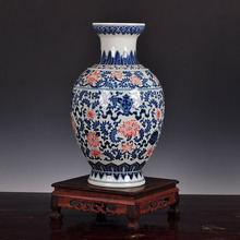 blue and white porcelain vase ornaments jewelry Jingdezhen antique hand-painted vases Home Furnishing living room