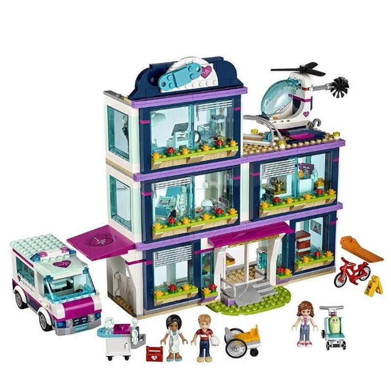 Girl Friends Set Heartlake Hospital Building Block Brick Toys Compatible With Lego