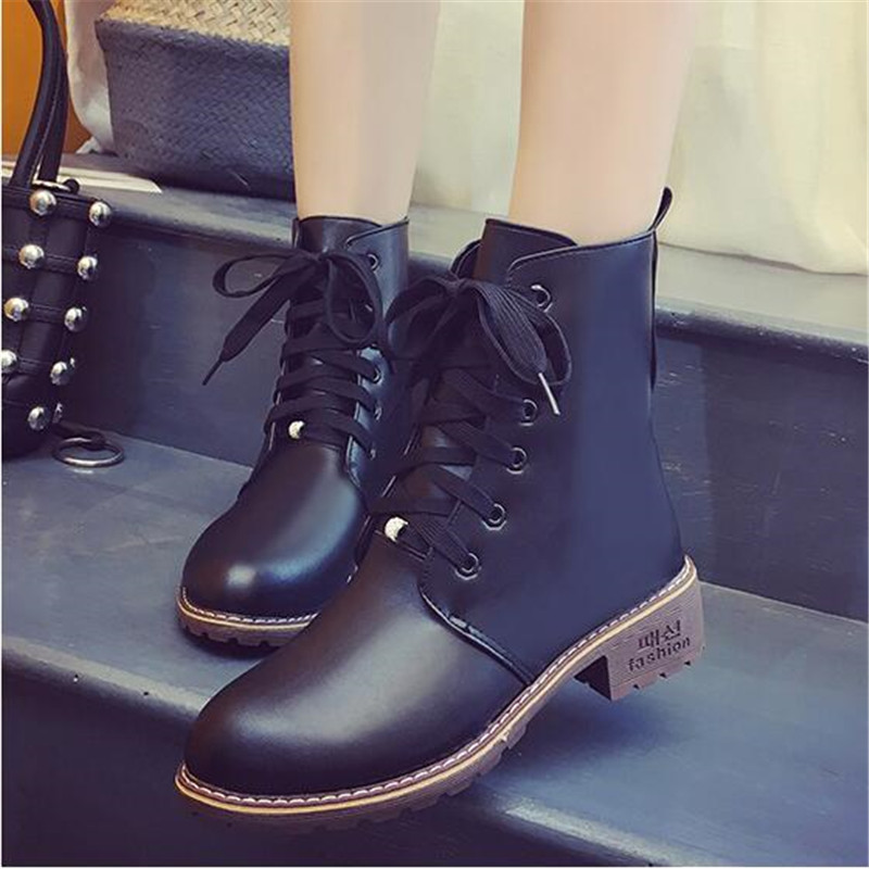2019 Hot New Autumn Early Winter Shoes Women Flat Heel Boots Fashion Keep warm Women's Boots Brand Woman Ankle Botas Camouflage 6
