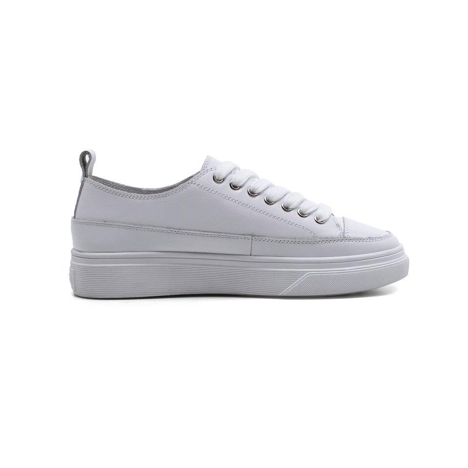 En 8 De Talons Vache Blanc blanc Chaussures Taille Pompes Rond Bas Eshtonshero Femme 4 Dames Base Apricot Automne Pu Femmes Cuir Bout Mariage RwqSx04