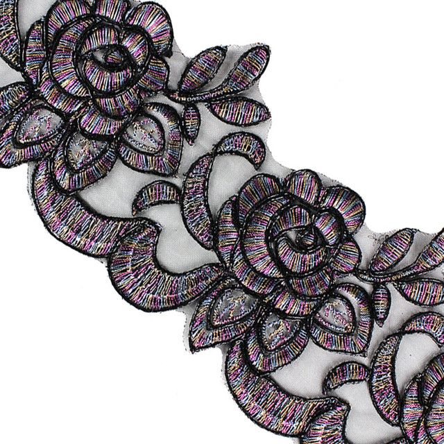 10yards Flower Embroidery Applique Lace Fabric Trim Lace Cord Ribbon  Trimming Tape Motif Craft Clothes Decorated Sewing T2463 a8406d6d8785