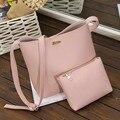 2PC Fashion Simple women messenger bags  Women Bags Mini Women Shoulder Bag luxury handbags women bags designer bolsa feminina