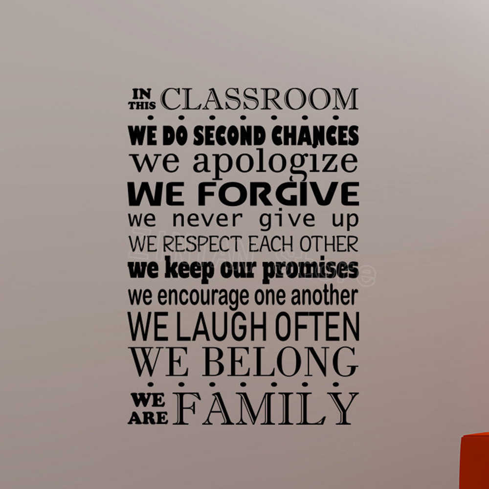 In this Classroom Decal Study Education Rules Vinyl Wall Sticker  Inspirational Quotes Art School interior Decorations Mural Z993