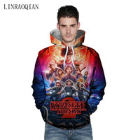 Stranger Things Hoodie Men Long Sleeve Hooded Stranger Things Sweatshirt Mens Hoodies Sudadera Stranger Things Sudadera