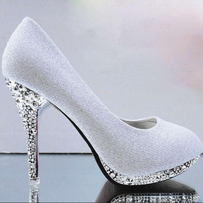 Gold High Heels Green White Wedding Shoes Red Bridal Shoes