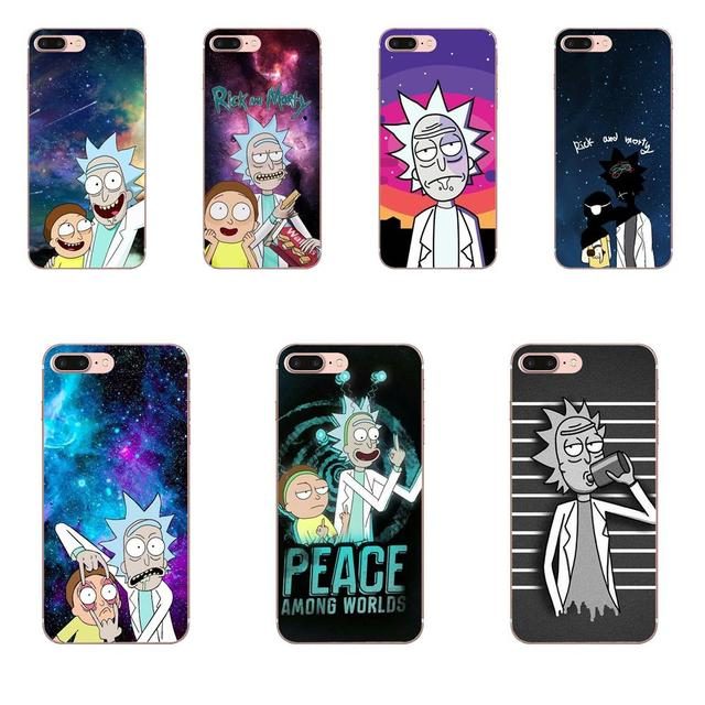 Funny Rick And Morty Adorable Colored Drawing Back For Huawei Mate 7 8 9 10 20 P8 P9 P10 P20 P30 Lite Plus Pro 2017