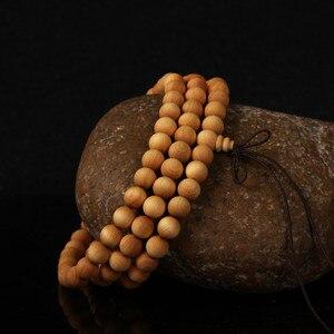 Image 2 - 6 8mm 108 Wenge Wooden Prayer Beads Tibetan Buddhist Buddha Bracelet For Women Men Bangle Jewelry