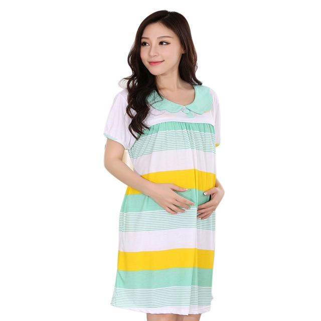 Aliexpress.com : Buy Striped Nursing dresses pregnancy bathrobe ...