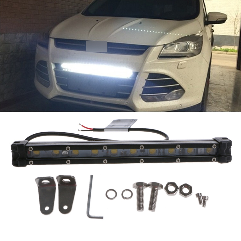 DC 10-30V 10 LED Curved Flood Spot Work Light Bar 20W For Offroad Truck Lamp Super bright for Pickup Wagon UTB Cab 6000-6500K
