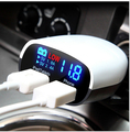Universal 5V 2.4A+1A Dual USB Car Charger Adapter LED Monitor Display For iPhone 5 6 6S Ipad Samsung Tablet Car-Charger