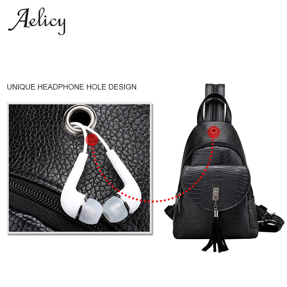 Aelicy Fashion Designer Lady Mini Backpack Multifunction Leather Chest Bag Women Travel Rucksack Casual School Bag For TeenagerAelicy Fashion Designer Lady Mini Backpack Multifunction Leather Chest Bag Women Travel Rucksack Casual School Bag For Teenager