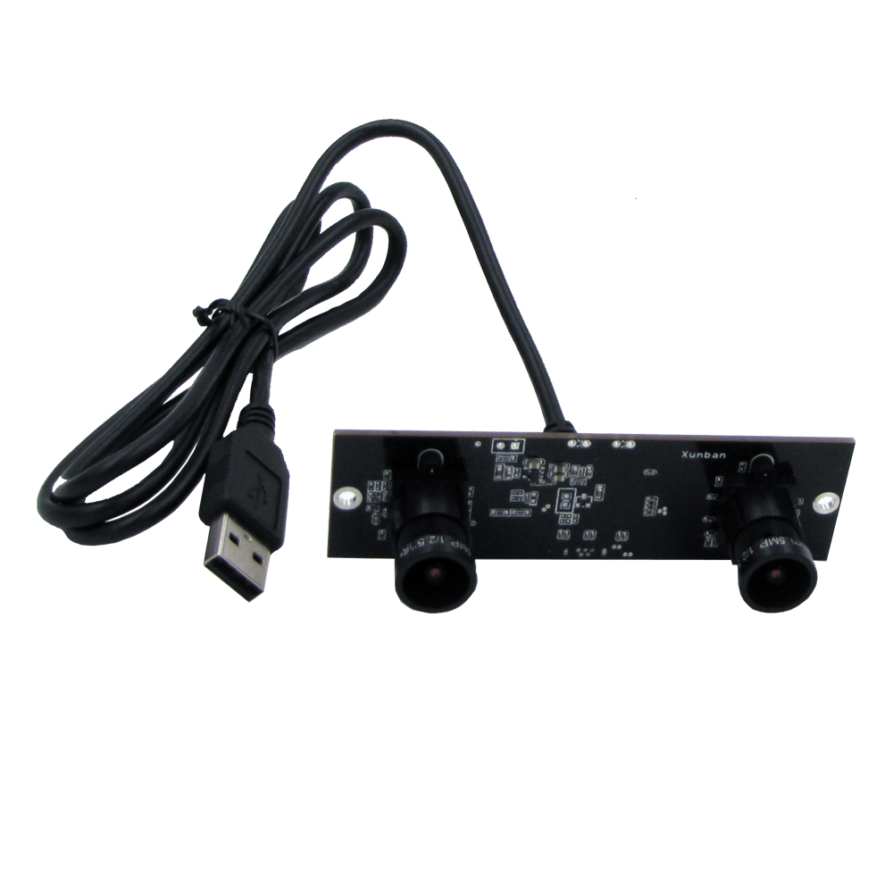 bilder für Synchronisation USB 2.0 MJPEG 1280x960 P Aptina AR0130 mini webcam Dual lens usb kamera infrarot-flammensensor-modul-brett für Windows Linux mit UVC