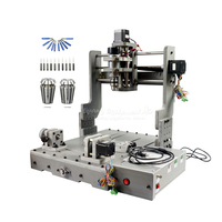 DIY mini cnc engraving machine 3040 3 axis 4 axis 300W spindle PCB with free cutter collet and USB port Russia tax free