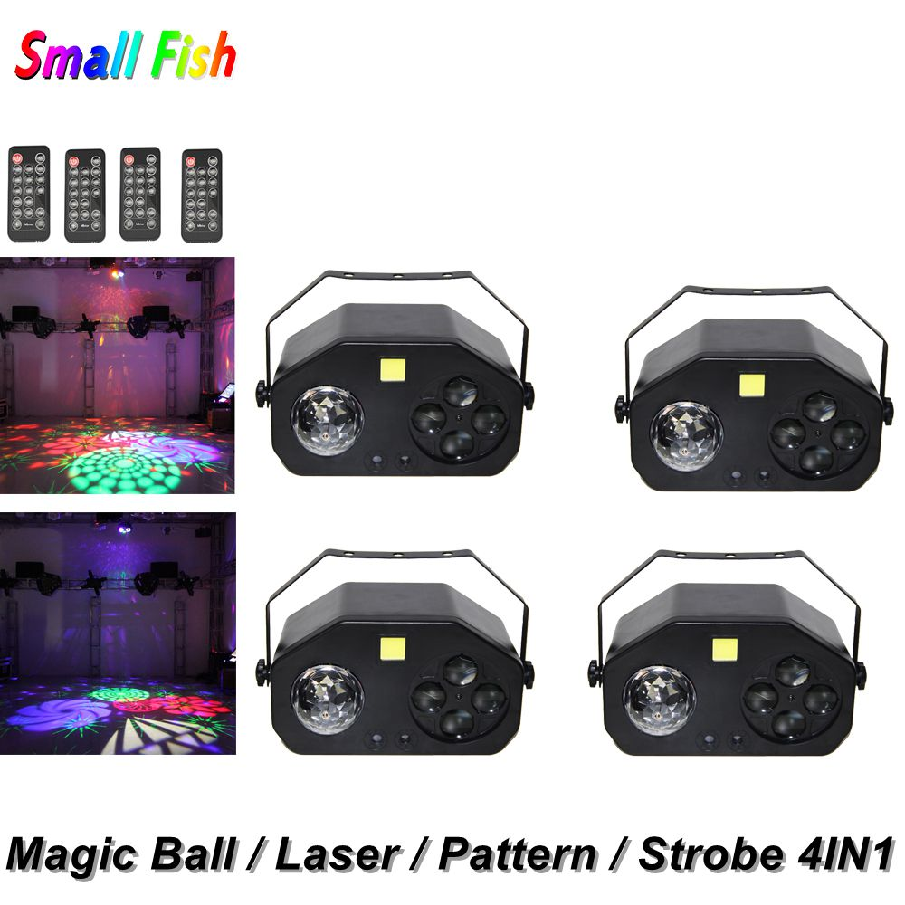 4IN1 LED lumière de scène modèle stroboscopique Laser magique boule ampoule DMX contrôleur lampe de poche LED Dj effet d'éclairage Disco lumière discothèque