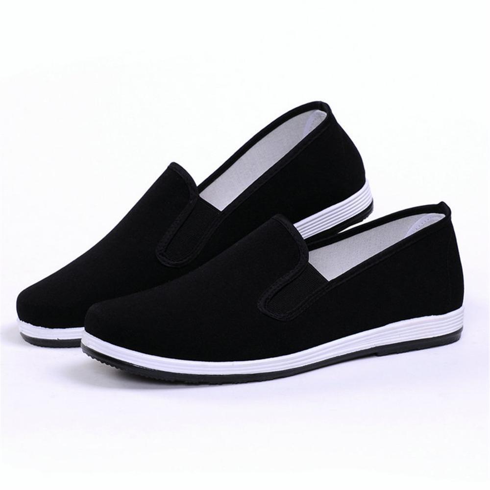 2018 New Design Canvas Vulcanize <font><b>Shoes</b></font> <font><b>Black</b></font> Sneakers Man Driving Breathable Slipon Couple <font><b>Shoes</b></font> Chinese Kongfu Style Size 34-50