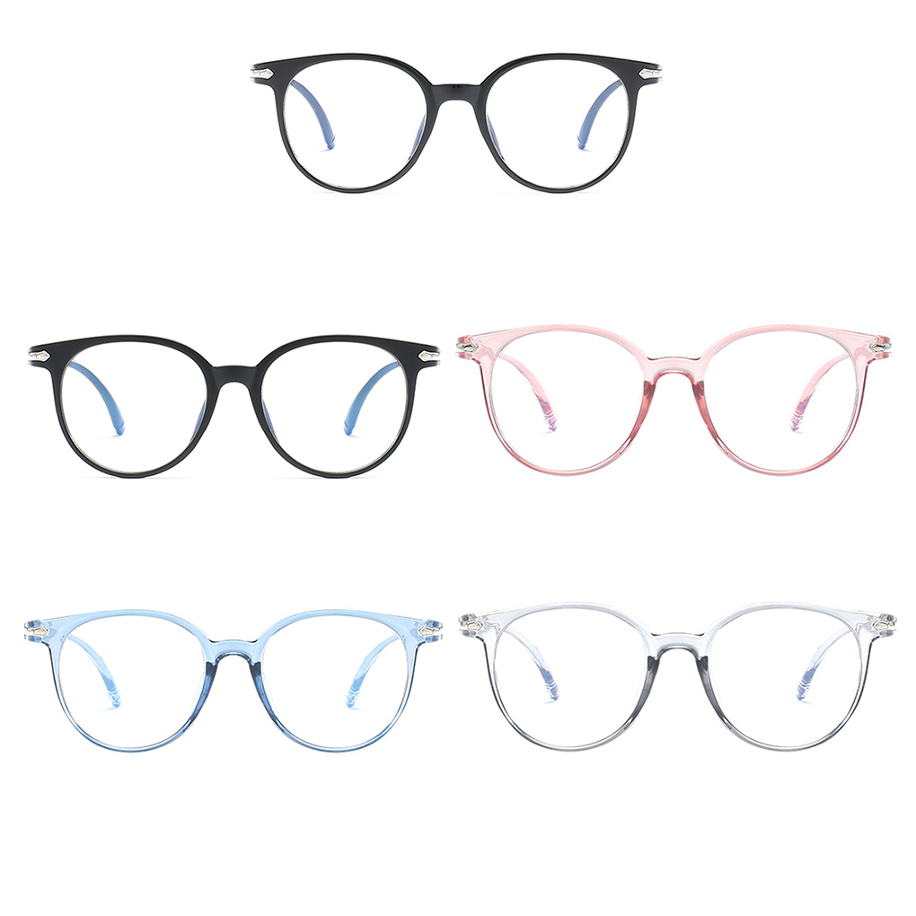 Women Glasses Frame Anti Blue Light Eyeglasses Frame Vintage Round Clear Lens Glasses Optical Spectacle Frame