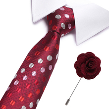 Fashion Mens Colourful Tie Silk Formal Ties Necktie Narrow Slim Skinny Cravate 7.5cm Neckties free brooches