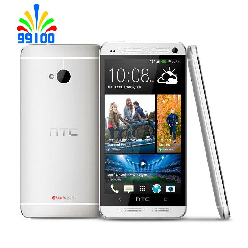 Отремонтированный оригинальный HTC один M7 разблокирован мобильный телефон 4,7 ''TouchScreen один/Dual Sim Quad-core 2 Гб Оперативная память + 32 ГБ Встроенная ...