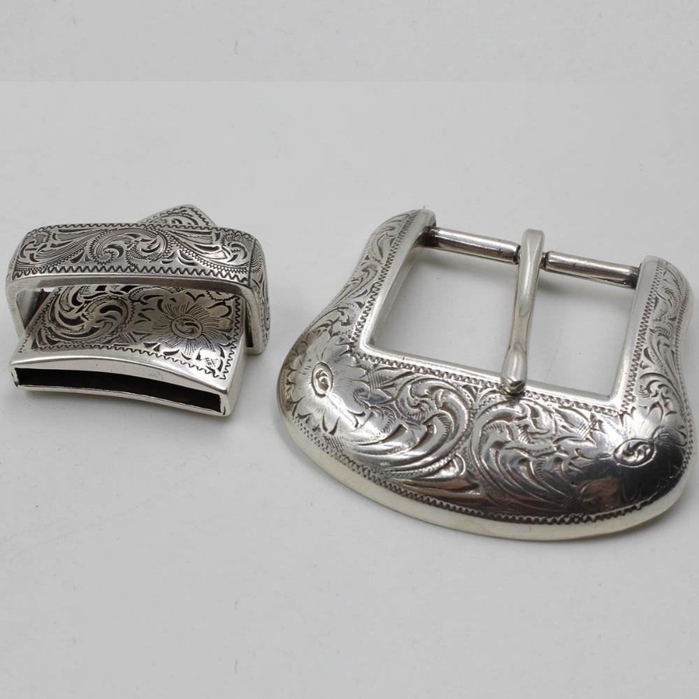 TOME 1-1//2 Western Belt Buckles Silver Cowboy Belt Buckles Set 38MM