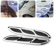 2Pcs/Set Car Air Intake Flow Hood Vent Fender Decoration Stickers Car Door Protector Strip Decorative strip Car Styling Universa
