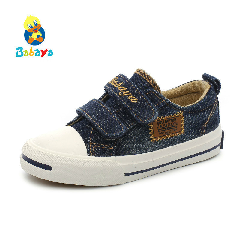 Kids Shoes For Girl Child Canvas Shoes Boys Sneakers Denim 2017 New Spring Autumn Fashion Children Casual Shoes children sneakers girls shoes boys small white shoes kids casual shoes for girl 2018 spring autumn new pattern fashion toddler