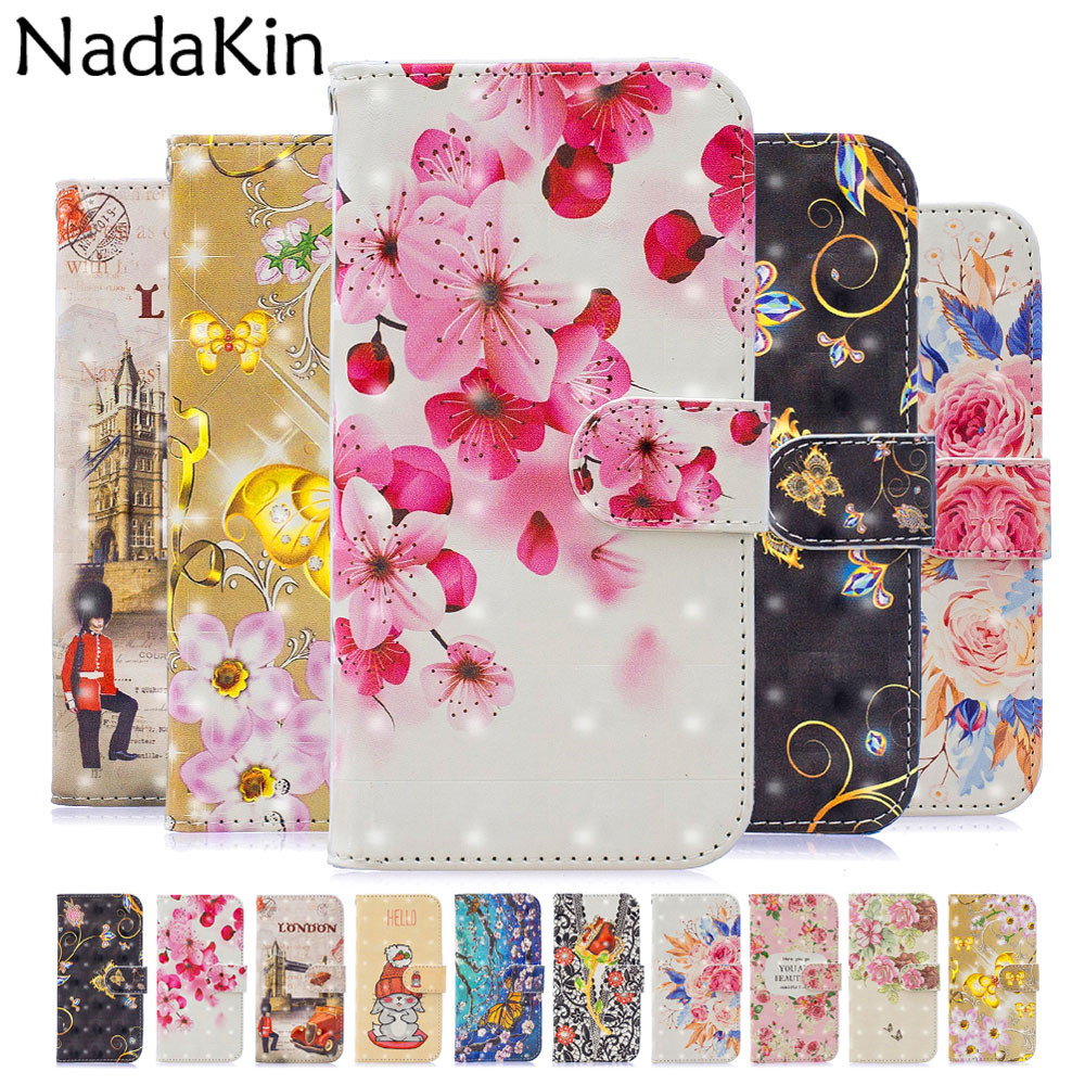 3D Painted Flip Book Case Shell For <font><b>Xiaomi</b></font> <font><b>Redmi</b></font> 5 Plus 5A Note <font><b>6</b></font> Pro Pocophone F1 <font><b>Rabbit</b></font> Elegant Flower Wallet Leather Cover image