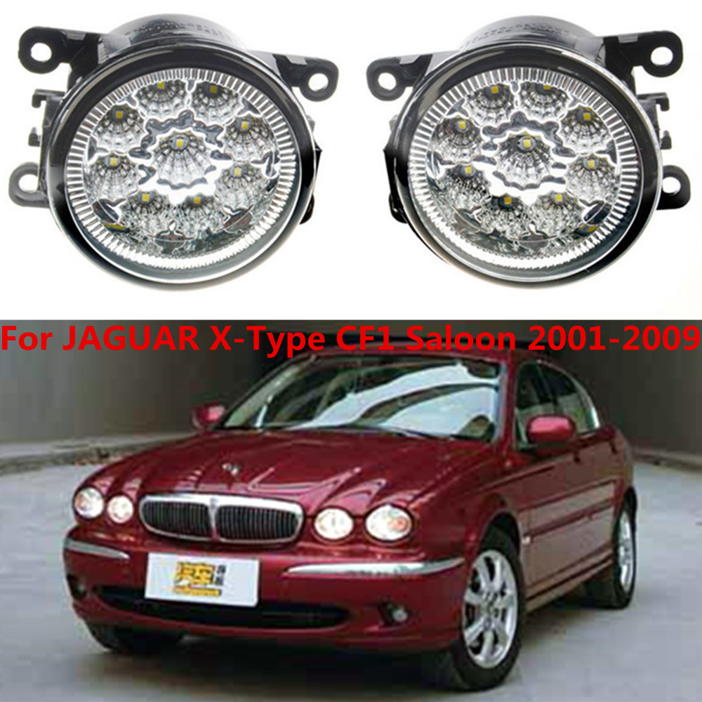 For JAGUAR X-Type CF1 Saloon 2001-2009 Car styling LED fog Lights high brightness fog lamps 1set for jaguar s type 1999 2008 led lamps fog light lights car styling 1 set