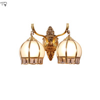 Nordic All Copper Wall Sconce Light Fixture Lustre Led American Bedroom Bedside Simple Living Room Background Corridor Modern