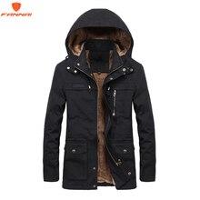 Além de veludo masculino jaqueta de inverno 4xl 5xl parka lã de pele com capuz jaqueta militar bolsos blusão