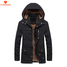 Plus samt Männer Winter Jacke 4XL 5XL Parka Fleece Fell Kapuze Military Jacke Mantel Taschen Windjacke Jacke Männer