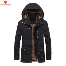 Plus velours hommes veste dhiver 4XL 5XL Parka polaire fourrure à capuche militaire veste manteau poches coupe vent veste hommes