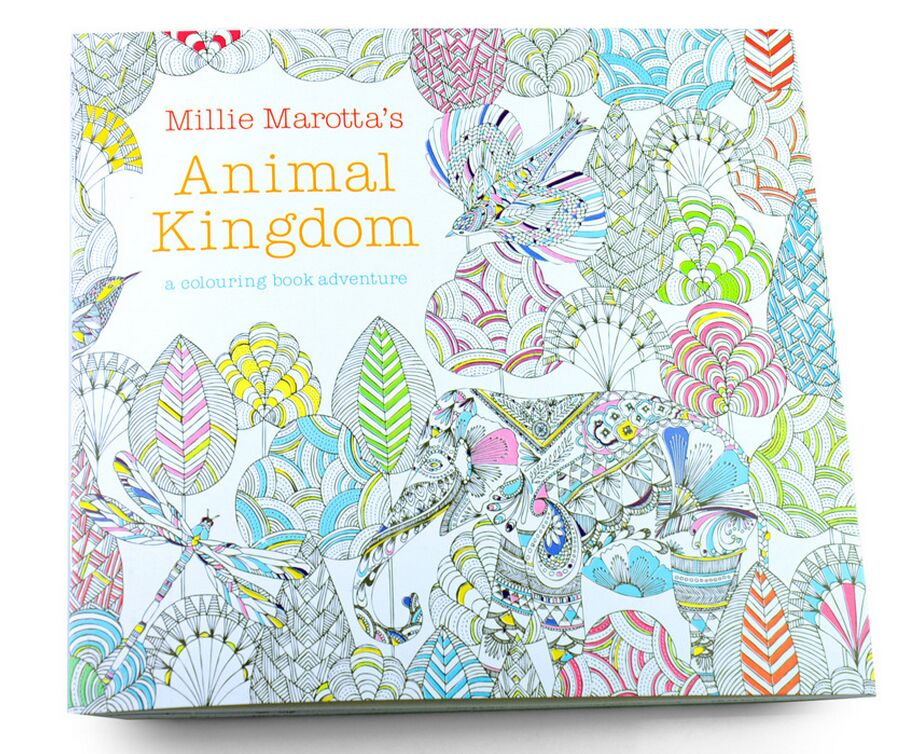 24 Pages Painting Drawing Book Relieve Stress For Children Adult  Kill Time Animal Kingdom Graffiti Coloring Book
