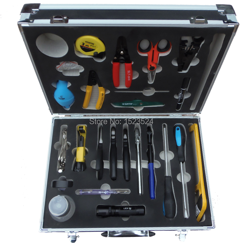 25 in 1  Fiber Optic FTTH Tool Kit  with Pilers ,CFS-2 Fiber Optic Stripper ,Cable stripper ,Screwdrivers , Kevlar Scissor25 in 1  Fiber Optic FTTH Tool Kit  with Pilers ,CFS-2 Fiber Optic Stripper ,Cable stripper ,Screwdrivers , Kevlar Scissor