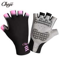 CHEJI New Arrival Cycling Gloves Mul ti Color Men Women Bike Gloves Half Figner Gel Palm Pro Team Bicycle Sport Gloves