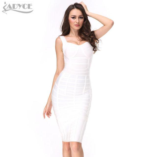 Новое лето 2017 г. женщин взлетно-посадочной полосы облегающее Бандажное платье Белый Серый сильно объединились бюстье по колено v-образным вырезом знаменитости Одежда для вечеринок