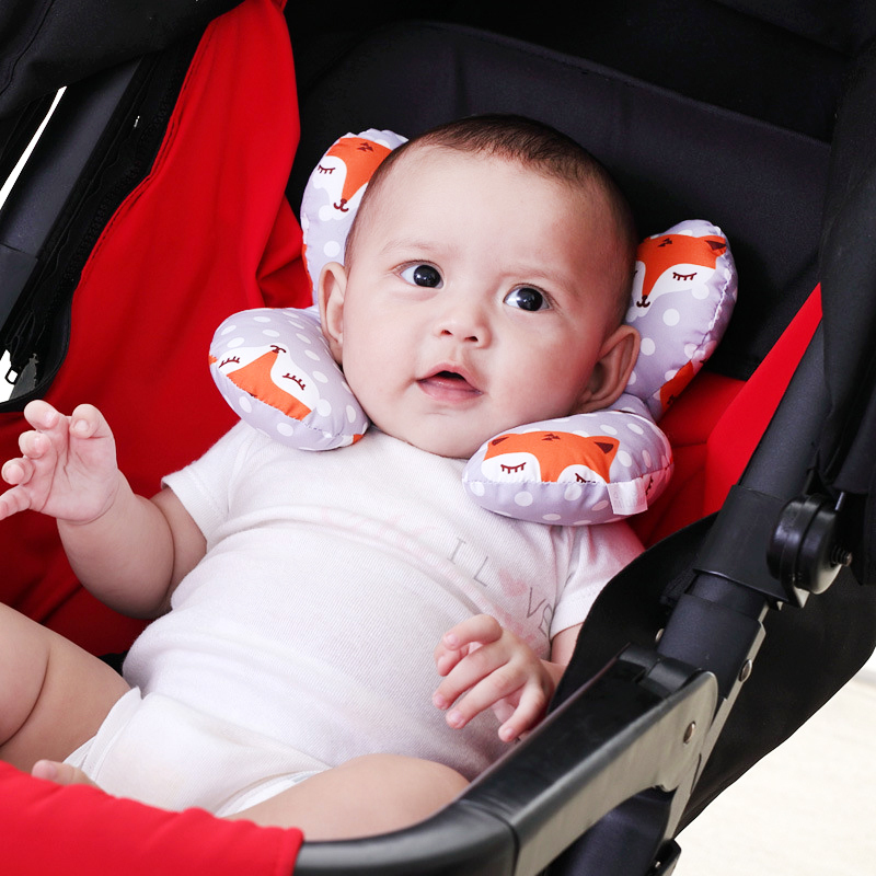 New Safety Seat Baby Head Protection Stereotype Pillow Infant Nursing U-Shaped Cervical Pillow Support Cushion Anti-Head Pillow
