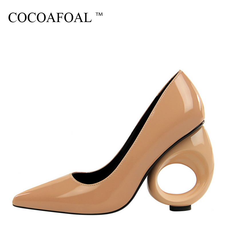 COCOAFOAL Woman Red Wedding High Heels Shoes Fashion Sexy Pumps Shallow Black White Pointed Toe Bridal Shoes Calzado Mujer 2018 siketu 2017 free shipping spring and autumn women shoes fashion sex high heels shoes red wedding shoes pumps g107