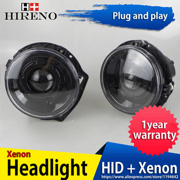 Hireno Headlamp for Mercedes-Benz W463 G320 G400 G500 car Headlight Assembly LED DRL Angel Lens Double Beam HID Xenon 2pcs