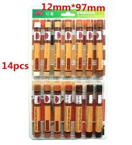 Image 2 - 14 pz/set mobili vernice riparazione riparazione del pavimento pavimento pastello a cera materiali di riparazione penna vernice zero cerotto legno composito
