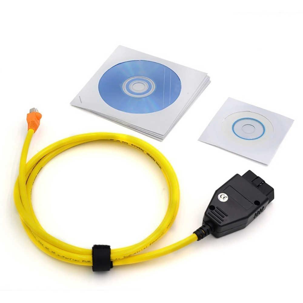 Cabo de diagnóstico para BMW ENET Ethernet para OBD E-SYS ESYS ICOM Codificação F-serie 2018 Novo Cabo de Dados Para BMW ENET Ethernet