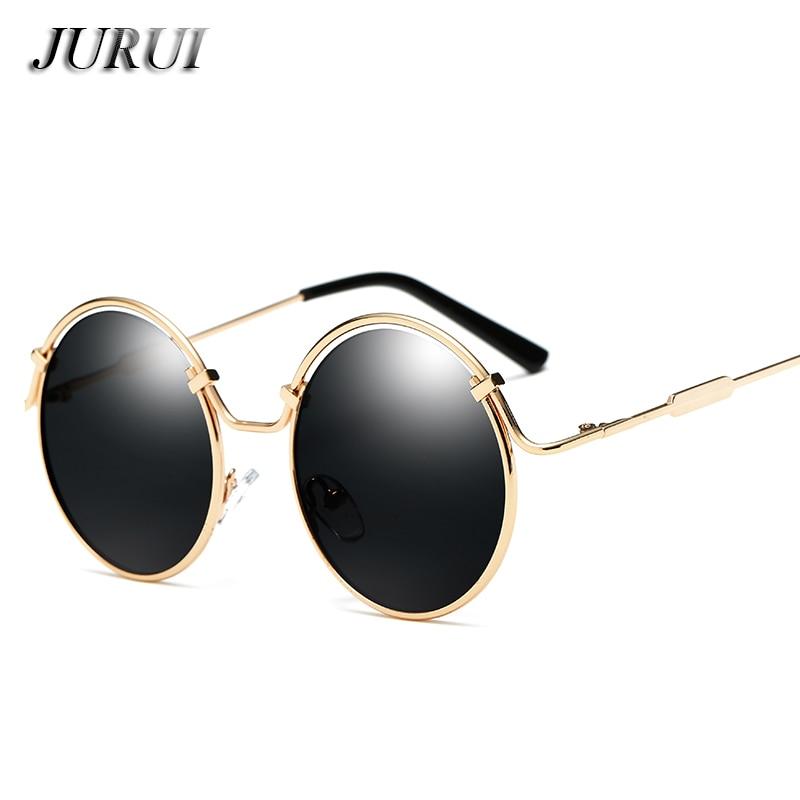2018 nieuwe mode stijl ronde textuur frame vrouwen zonnebril merk - Kledingaccessoires