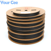 A Roll 200meter Black Heatshrink Heat Shrink Tube Insulation Sleeving 1mm 2mm 3mm 4mm