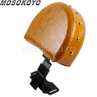 Motorcycle Brown Detachable Backrest For 2014 UP Indian Chief Chieftain Quick Release Driver Backrest Seat Cushion