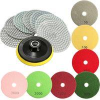 Top Quality 8pcs Set 4 Inch Diamond Polishing Pads Wet Dry Granite Stone Concrete Marble Power
